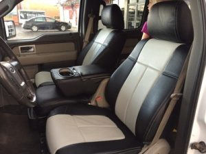 ford - tan and black seat covers