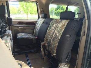 2004 excursion - realtree xtra/black dura - folded seats