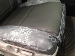 2010 Tundra - Kryptek Typhon & Black Perf Sof-Touch - detail seat