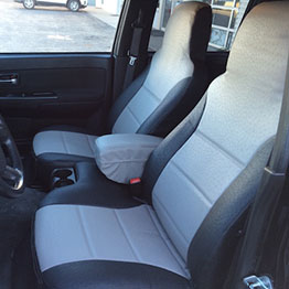 2011 gmc canyon black lt gray ostrich sim leather