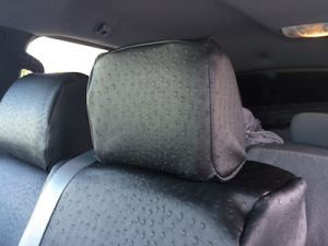 2014 f150 ebony croc black ostrich - middle headrest