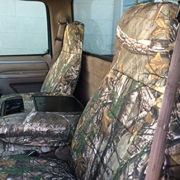Camo seat covers from Covers and Camo