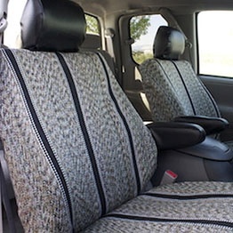 black saddle blankets in car