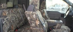 camo covers in truck