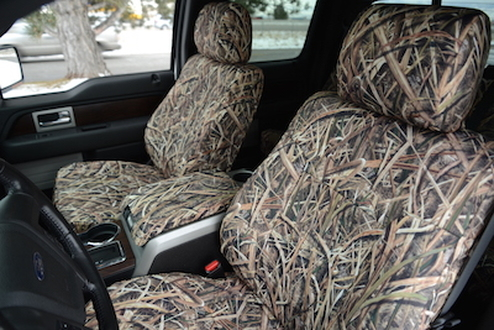 Ford F150 Mossy Oak Blade Camo Seat Cover Top View