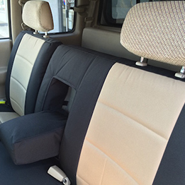black tan seat