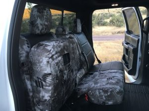 2016 F150 - Black Ostrich/Krytek Raid - folded up seat
