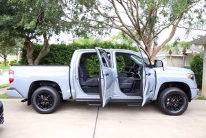 2017 Toyota Tundra with doors open