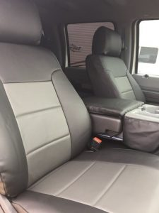 2016 F250 - med gray/charcoal - front row