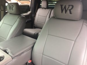 wr seat cover close up