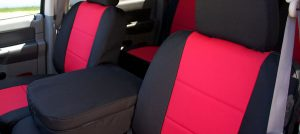 dura seat covers - red and black