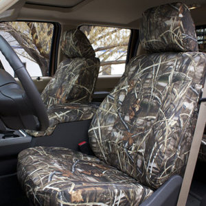 Camo seat covers in a 2015 Ford F250