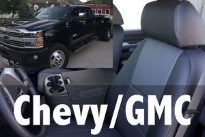 Chevy/GMC are one of the many vehicles we can cover seats for.