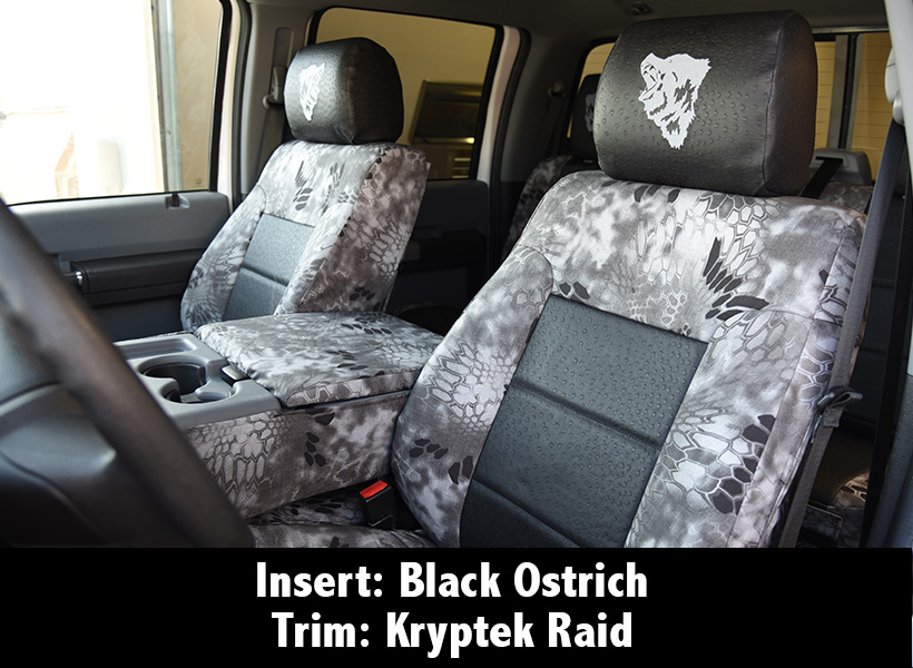 Black Ostrich insert with Kryptek Raid trim