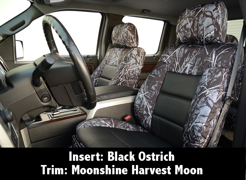 Black Ostrich Moonshine Harvest Moon Seat Covers