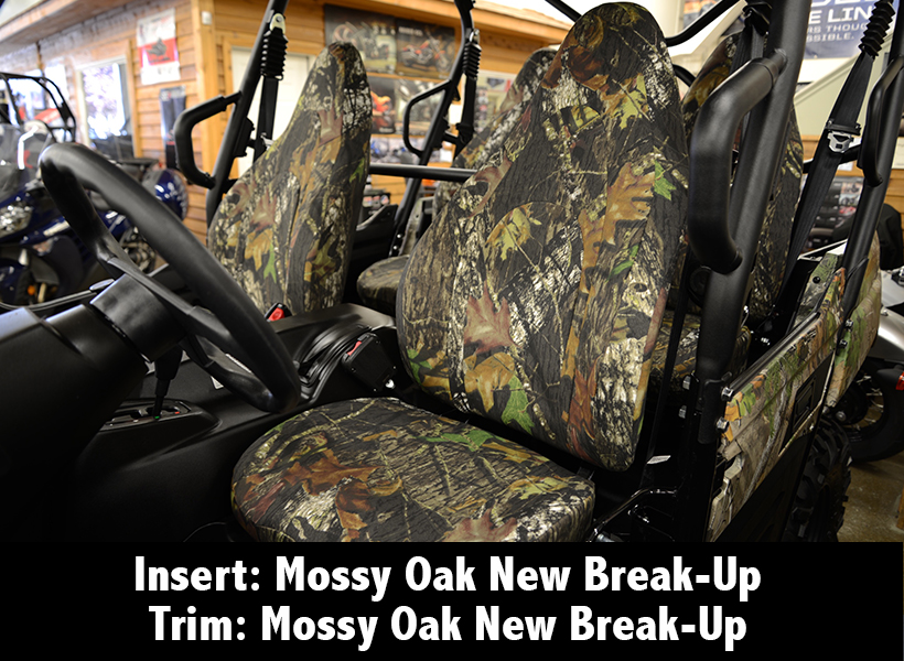 Kawasaki Mossy Oak New-Break Up Camo Seat Cover