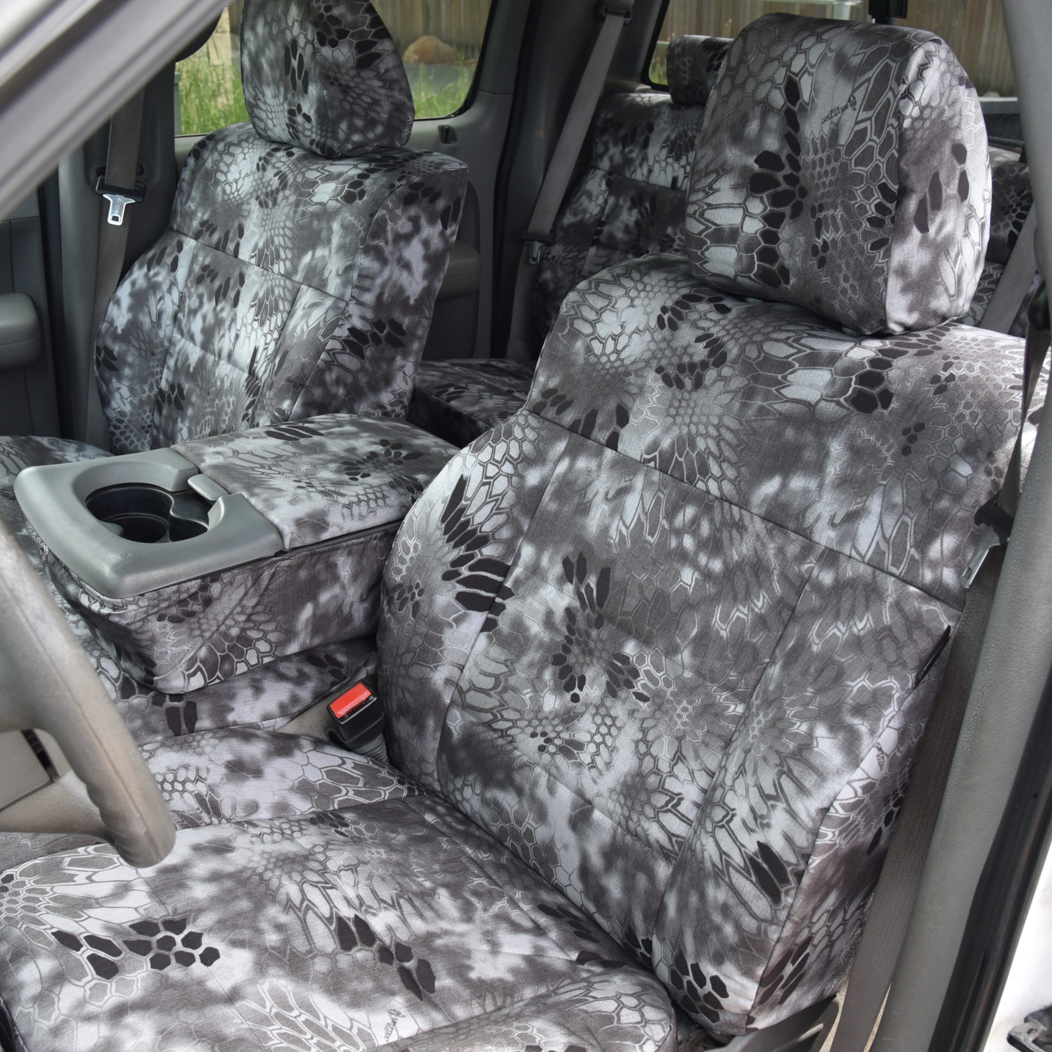 FORD TRANSIT CUSTOM 2015 HEAVY DUTY SINGLE DRIVER GREY CAMO SEAT COVER