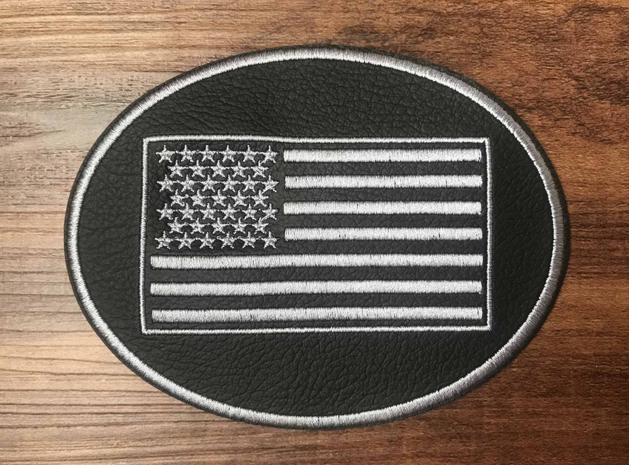 American Flag Oval Seat Cover Patch