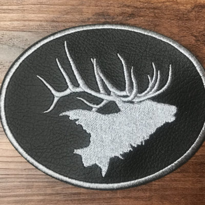 Elk Oval Seat Cover Logo