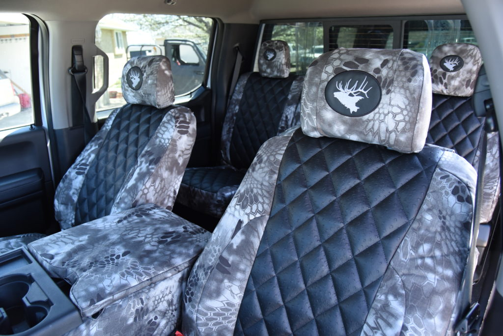 Ford F350 Seat Covers Black Ostrich Diamond Kryptek Raid