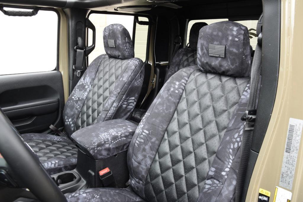 Jeep Gladiator Seat Covers Black Ostrich Diamond Kryptek Typhon
