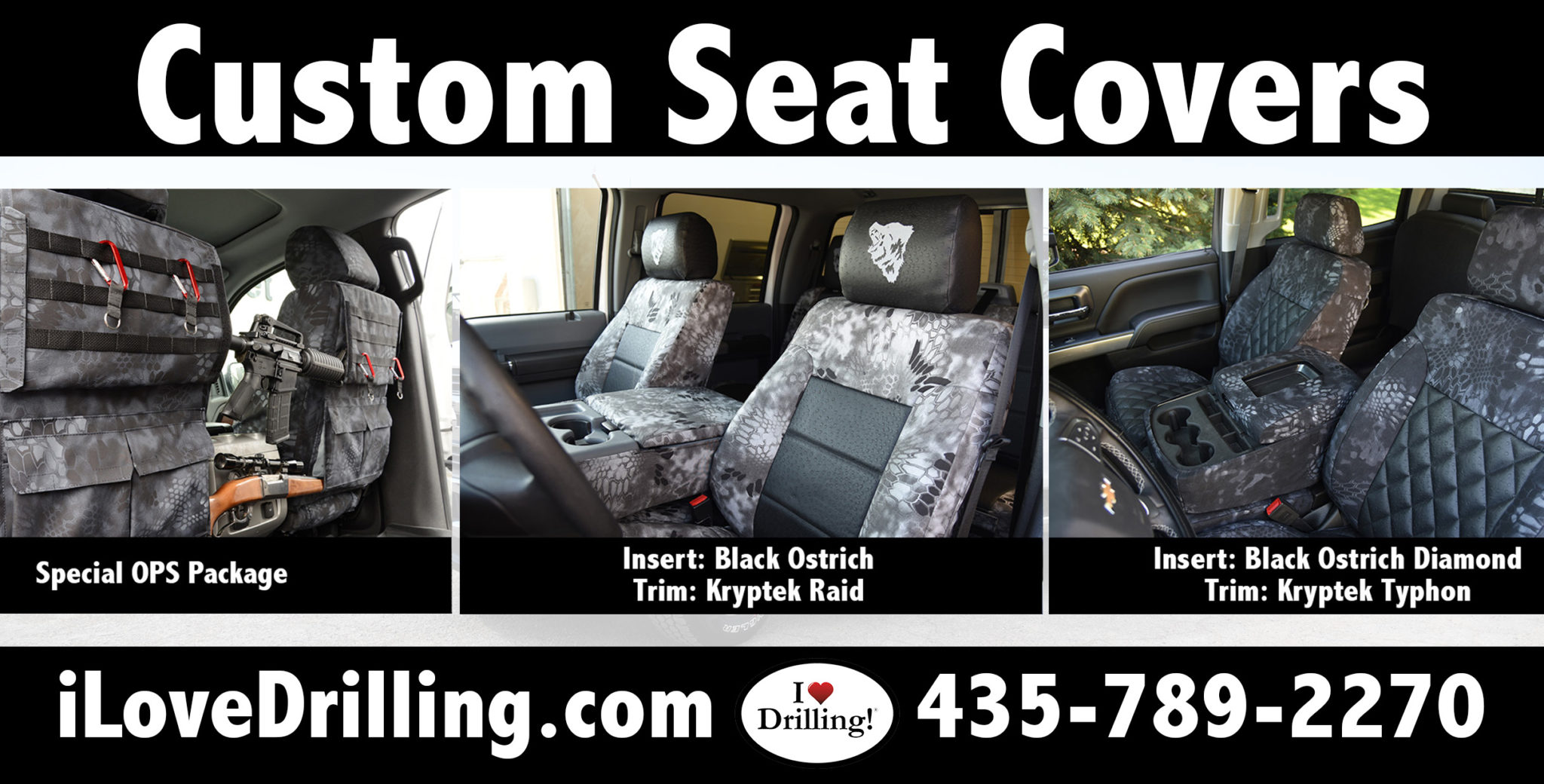 I love drilling custom seat covers